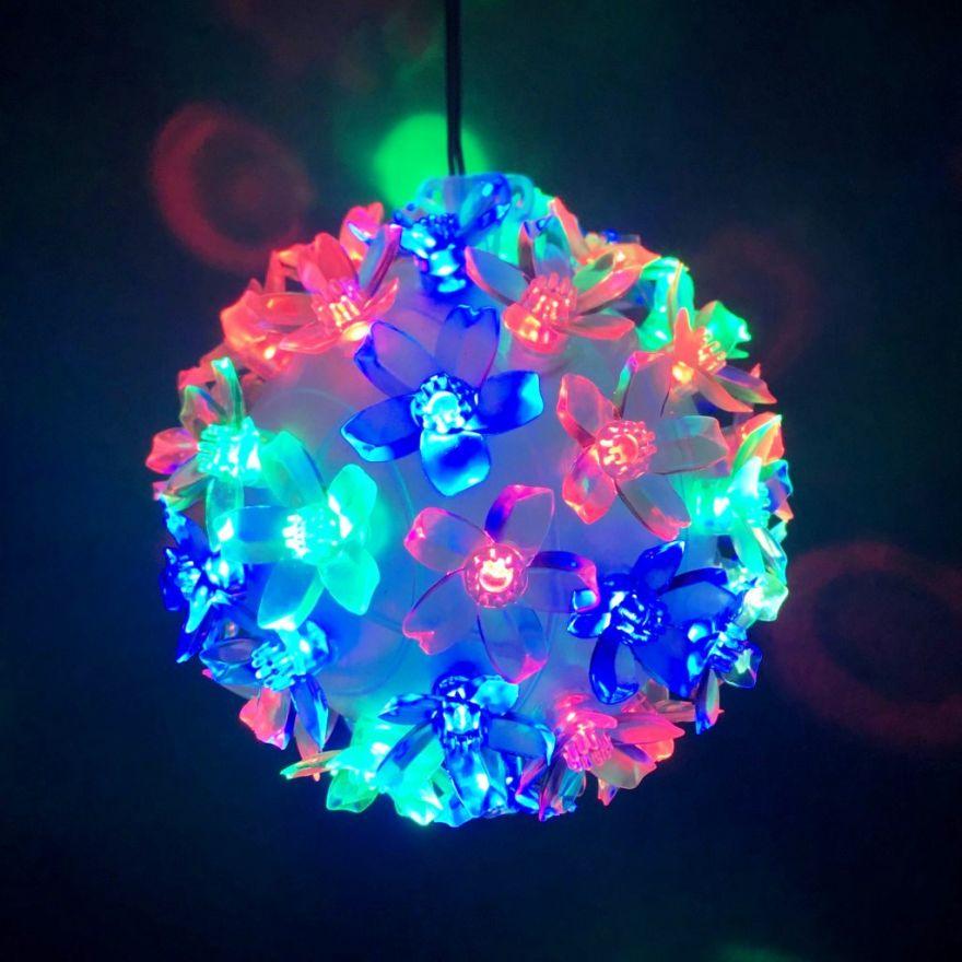 Уникальный светодиодный LED шар с лампами в виде цветов Led Light, 50 ламп