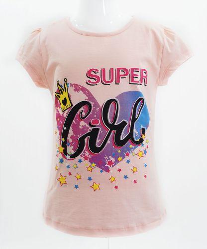 """Футболка для девочек Bonito kids """"Super Girl"""" 4-8 лет розовая"""