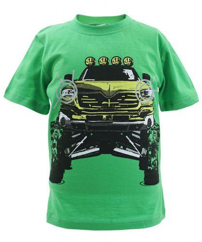 """Футболка для мальчика Bonito kids """"Car"""" 4-8 лет зеленая"""
