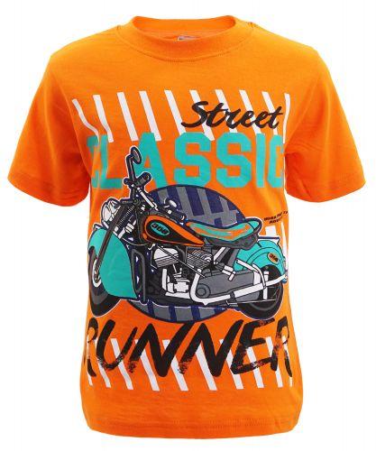 "Футболка для мальчика Bonito kids ""Street classic"" 4-8 лет оранжевая"