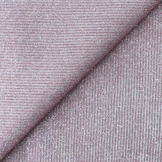 Лоскут трикотажной блестящей ткани Серебристо-розовый