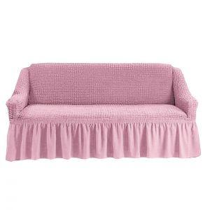 Чехол на 4-х-местный диван с оборкой (1шт.),Розовый