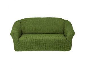 Чехол на 2х-местный диван без оборки,Зеленый