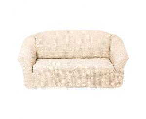 Чехол на 2х-местный диван без оборки,натурал