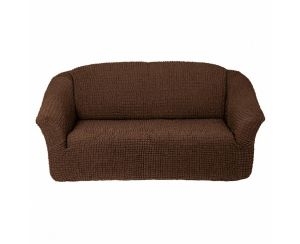 Чехол на 2х-местный диван без оборки,Шоколад