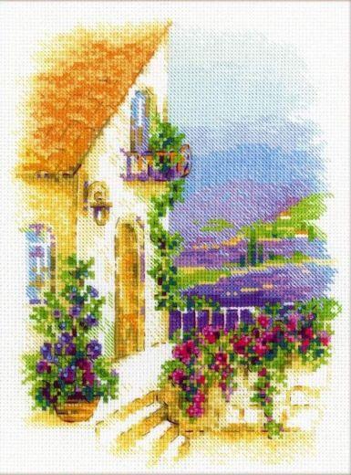 Набор для вышивания крестом Прованская улочка №1689 фирма Риолис