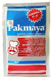 Дрожжи сухие активные, Pakmaya, 60 гр