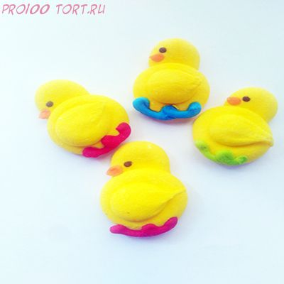 Украшение сахарное Цыплёнок плоский в цветном гнезде 1 шт/упак