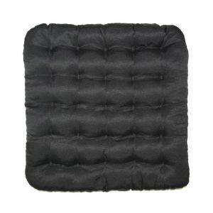 Подушка на стул Уют черный 40х40см лузга  гречихи, грета хл35%, пэ65%   4297609