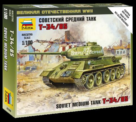 6160 Советский средний танк Т-34/85 (1:100)