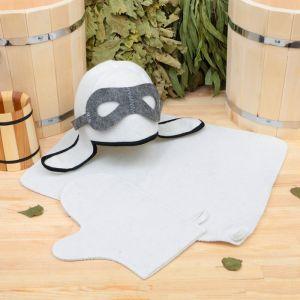 "Набор для бани ""Летчик"" шапка, коврик, рукавица 1318338"
