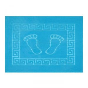Коврик для ног прорезиненный, 50х70 см бирюза нано-микрофибра п/э100%   1592465