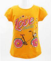 """Футболка для девочек Bonito kids """"Love menu"""" 4-8 лет оранжевая"""