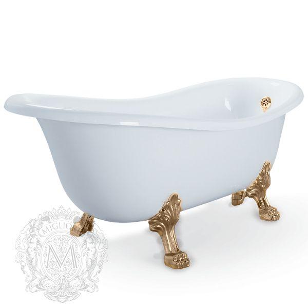 Ванна из литьевого мрамора Migliore BELLA 24623 на лапах Migliore ФОТО