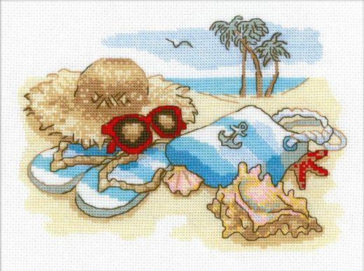 Набор для вышивания крестом Отдых на море № 1719 фирма Риолис