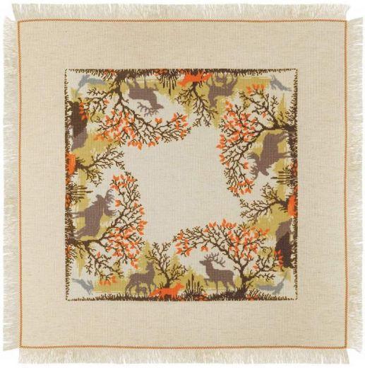 Набор для вышивания крестом Салфетка Лесные животные №1739 фирма Риолис