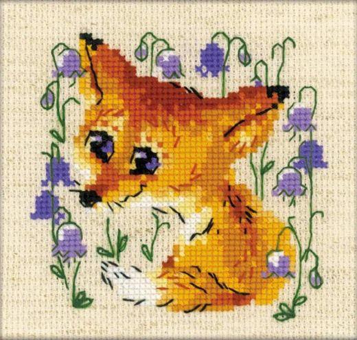 Набор для вышивания крестом Маленький лисенок №1776 фирма Риолис