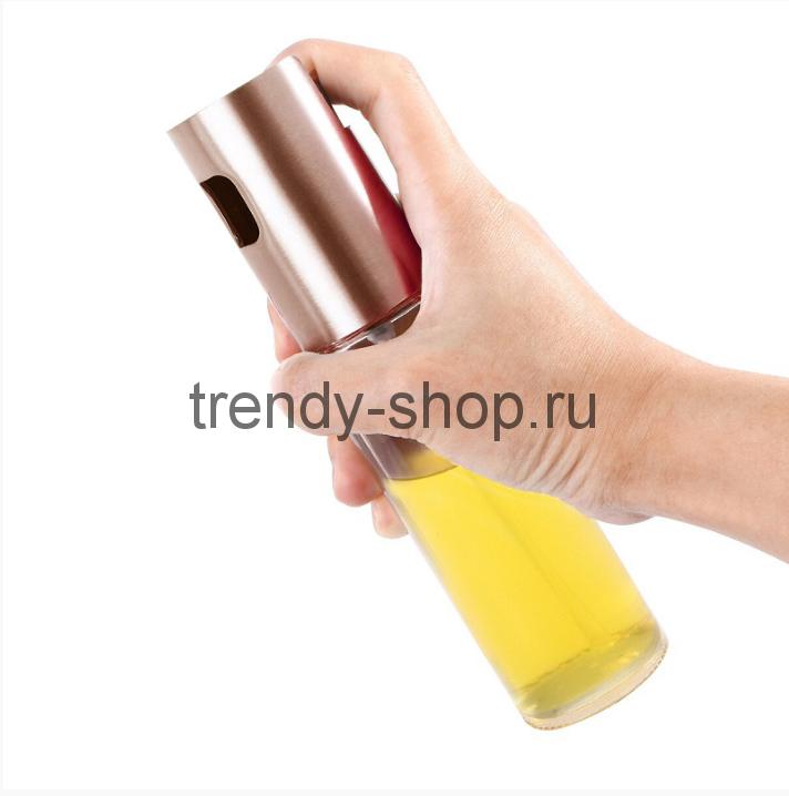 Бутылочка-спрей для масла и уксуса White Plate (Розовое золото)
