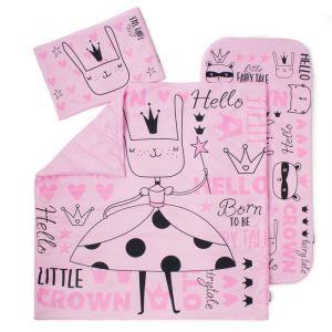 """Комплект в коляску """"Крошка Я"""" Little crown , 3 предмета, розовый   4579606"""