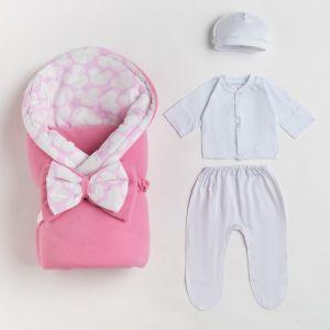 Одеяло-конверт для новорожденного, цвет розовый