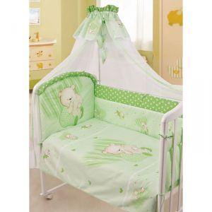 """Детское постельное бельё """"Мишутка"""":под.:147х107, прост. 147х97, нав 60х40(2 шт), зеленый"""