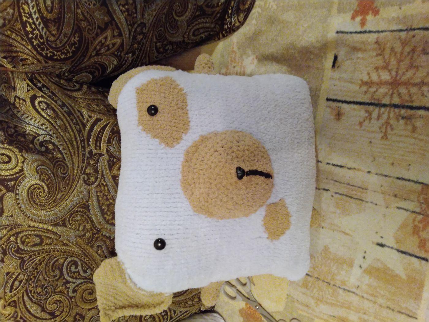 Декоративная подушка игрушка Собачка. Подушка в детскую. Подарок ребенку.