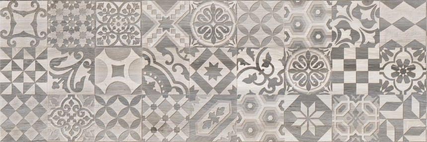 1664-0166 Настенная плитка декор2 Альбервуд 20x60 белая