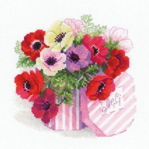 Набор для вышивания крестом Merci №1824 фирма Риолис