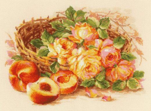 Набор для вышивания крестом Сочный персик №1827 фирма Риолис