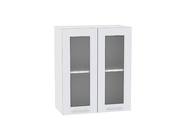 Шкаф верхний Ницца Royal В600 со стеклом (Blanco)