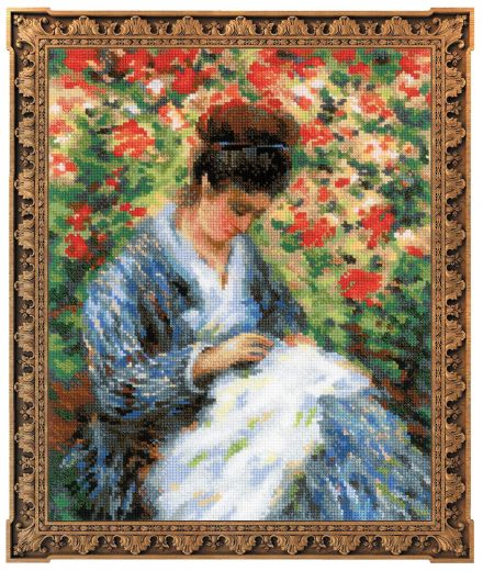 Набор для вышивания Riolis Premium Мадам Моне за вышивкой 100/051