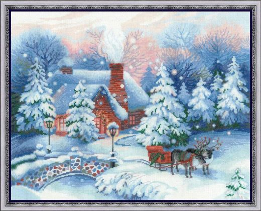 Набор для вышивания Riolis Premium Накануне Рождества 100/041 фирма Риолис