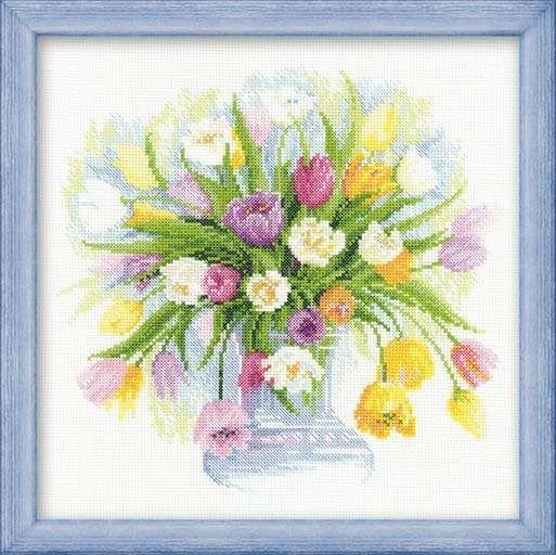 Набор для вышивания Riolis Premium Акварельные тюльпаны 100/008 фирма Риолис