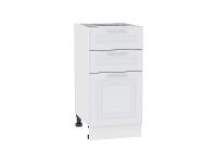 Шкаф нижний с 3-мя ящиками Ницца Royal Н403 в цвете Blanco