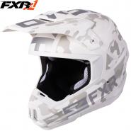 Шлем FXR Torque Squadron, с подогревом - White Camo/Whit