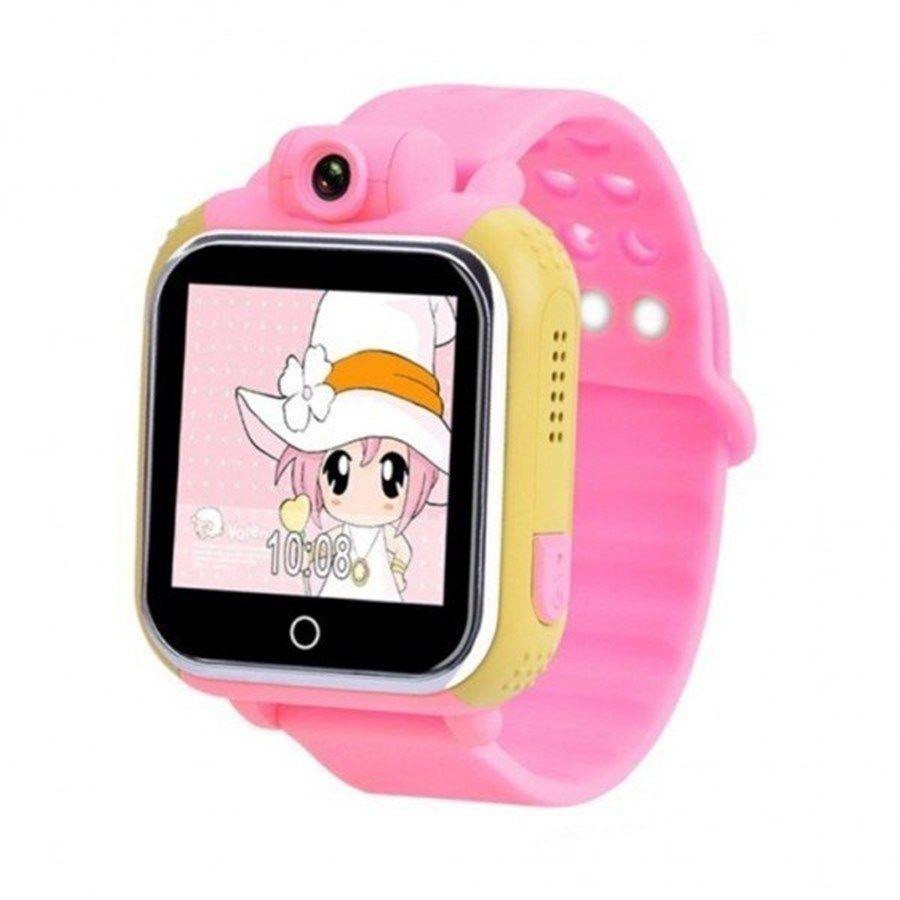 Умные Детские Часы С GPS Smart Baby Watch GW1000 (G75), Цвет Желто-Розовый