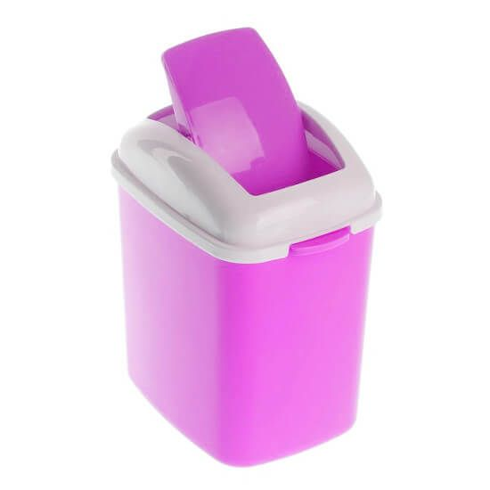 Контейнер для мусора настольный SHUANG HONG 13х11х23 см (цвет сиреневый)