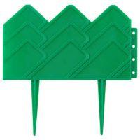 Бордюр для клумб 14х310 см 13 секций (цвет зелёный)_3
