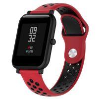Сменный ремешок для Умных часов  Amazfit Bip Smartwatch (Красный - Черный)