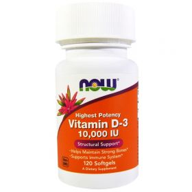 Vitamin D-3 10000 ME от now 120 капсул