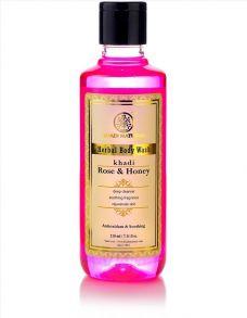 Гель для душа Роза и Мед (Khadi Herbal Body Wash Rose Honey) 210 мл
