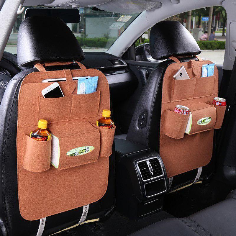 Органайзер Для Спинки Сиденья Авто Vehicle Mounted Storage Bag, Цвет Коричневый