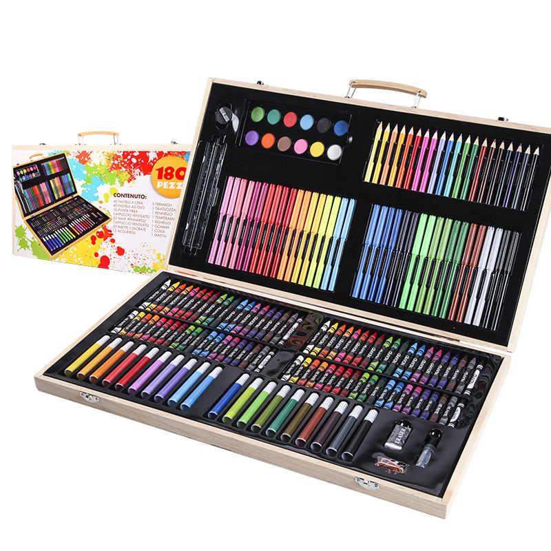 Набор для рисования в деревянном чемоданчике 180 предметов