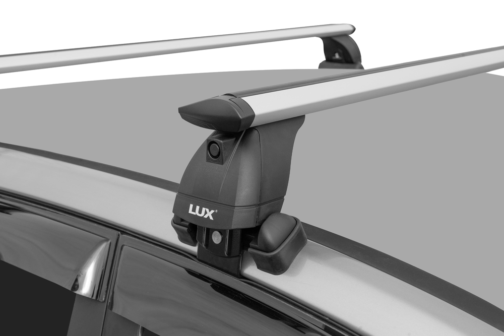 Багажник на крышу Hyundai Solaris (c 2017г, sedan), Lux, крыловидные дуги