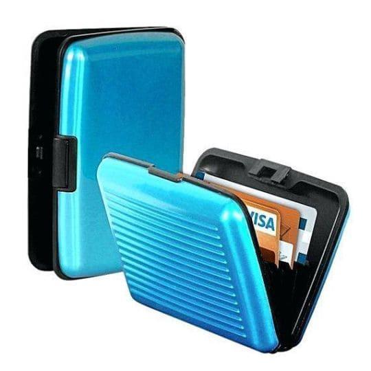 Бокс для кредитных карт Security Credit Card Wallet, голубой