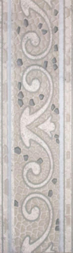 3604-0104 Бордюр напольный Тенерифе 14х45 серебряный
