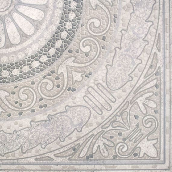 3609-0005 Панно напольное Тенерифе 90х90 серебряное (комплект из 4 шт)