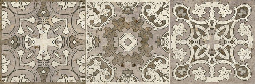 3064-0004 Керамогранит декор Травертино 20х60 орнамент
