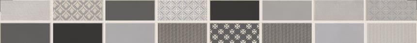 1506-0101 Бордюр настенный Фиори Гриджо 6,5х60 металлизированный