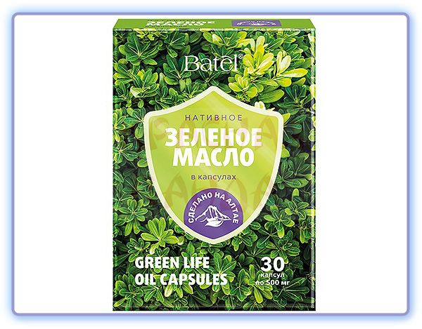 Нативное зеленое масло в капсулах Green Life Batel